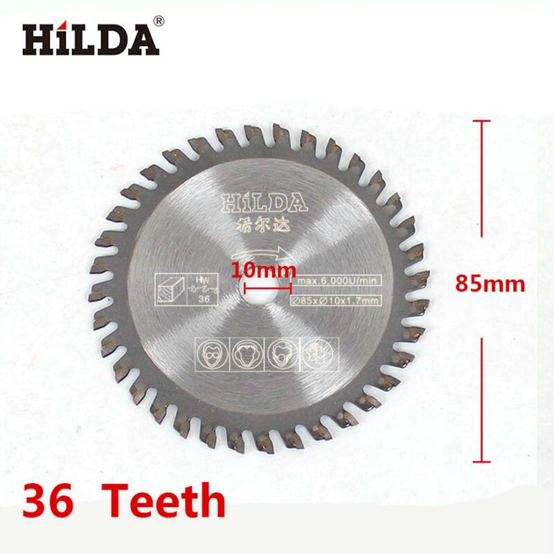 HILDA 85mm 36 Teeth Circular Saw Blade Wheel Discs For Plastic Cutting Durable 85X10X1.7mm 6cm x 0 05cm x 1 6cm 72 teeth hss slitting saw blade cutting tool