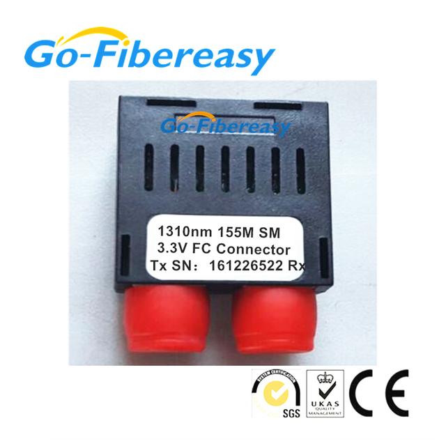 1 unids Industrial 1x9 módulo Transceptor Óptico 155 MB/S 1310nm Monomodo Dúplex de fibra 20 km FC conector