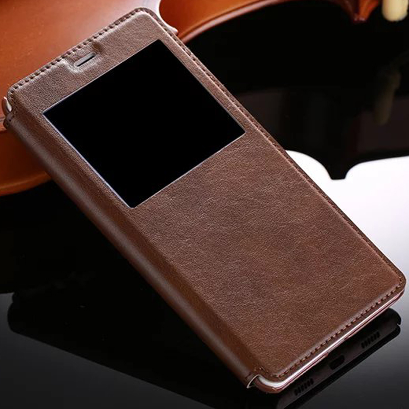 High Quality Hot Flip Ultrathin View Window Leather Case For Huawei GR5 2017 Honor 6X X6 ( Mate 9 Lite ) Luxury Phone Cover
