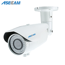 New 2MP Zoom Varifocal 2.8-12mm Lens Full HD IP Camera 1080P POE Onvif White Bullet Waterproof 78led Security Network P2P  стоимость
