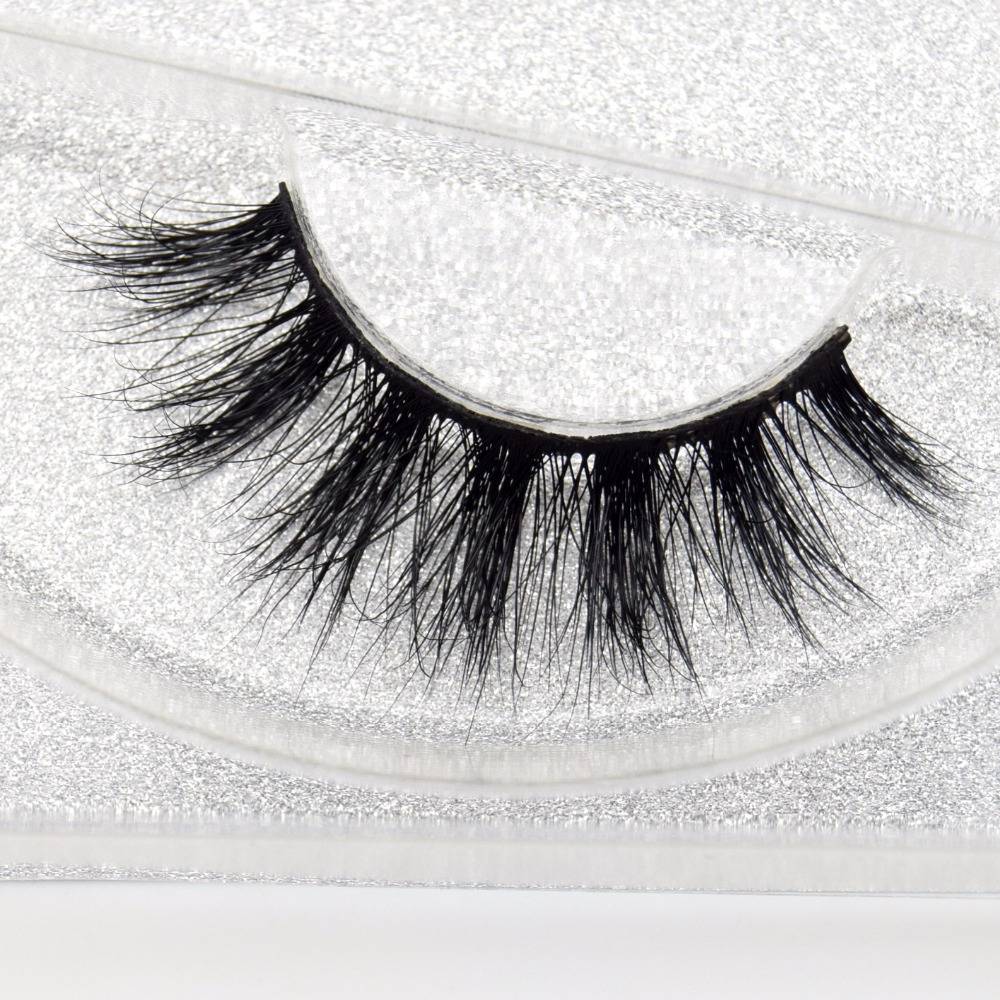 Visofree Mink Eyelashes 3D Mink Lashes Handmade Full Strip Lashes Medium Volume False Eyelashes Makeup Eye Lashes D121