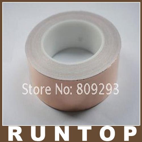 ФОТО 100MM X 50M  Double-Sided Conductive Copper Foil EMI Shield  Band Tape Strap