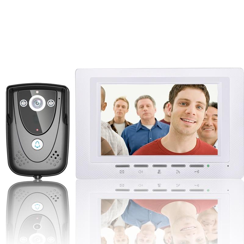 7 Inch Video Door Phone Doorbell Intercom Kit 1-camera 1-monitor Night Vision