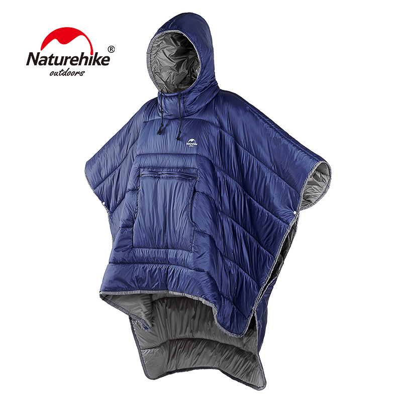 Naturehike Portable Water resistant Camping Sleeping bag Cloak Style Lazy Sleeping Bag Winter Poncho NH18D010 P