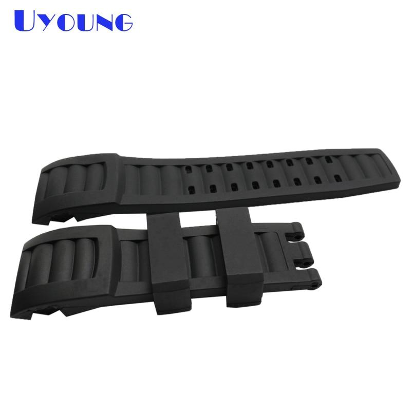 cheap custom silicone bracelet 24*28mm invicta silicone rubber bracelet waterproof black bracelet men watch accessories все цены