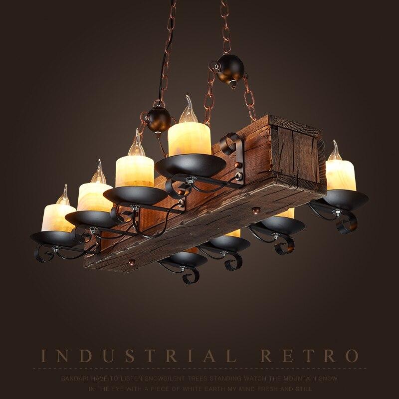 Loft Nordic American Kronleuchter 6/8 Köpfe Retro Vintage Lampe E14 - Innenbeleuchtung - Foto 2