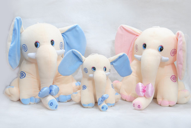 Free Shipping High Quality Lovely Elephant Stuffed Plush Toys 35*40cm Elephant Doll Children Christmas Gifts Birthday Gift