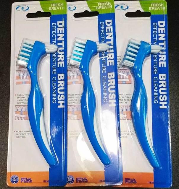 3 шт. Y-Форма протез посвященный Кисточки Зубная щётка двойной для Накладные зубы Кисточки головок очистки общего fda регистрации