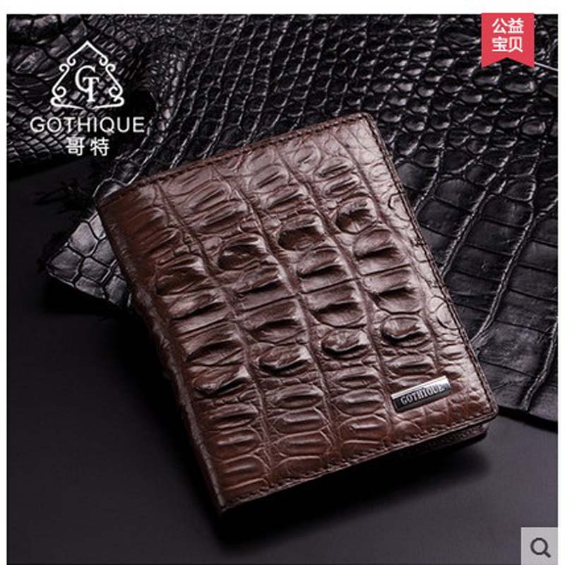 gete crocodile man wallet short Thai crocodile leather man wallet multi - card business wallet crocodile male bag frank buytendijk dealing with dilemmas where business analytics fall short