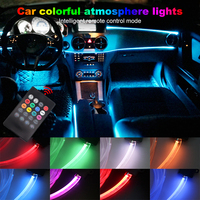 Atmosphere Lamp Light 8 colors Car Interior Ambient Light 1W RGB LED For Car Optical Fiber Decorative Remote Control Lamp