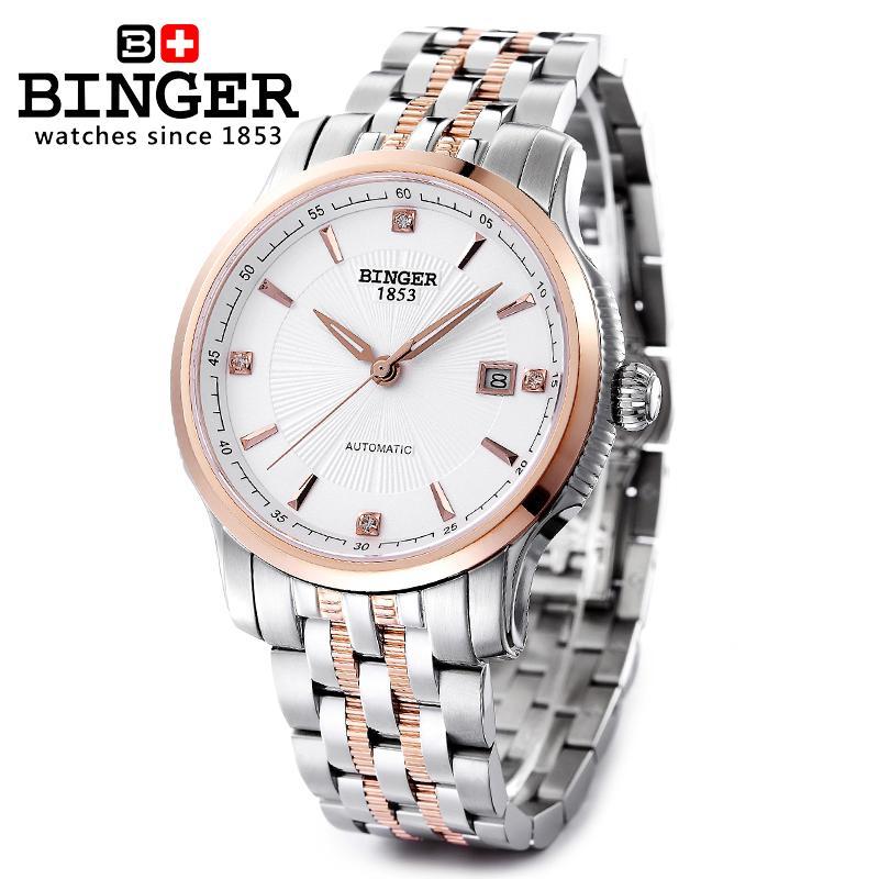 Szwajcaria BINGER zegarki mężczyźni luksusowa marka Mechanizm - Męskie zegarki - Zdjęcie 6