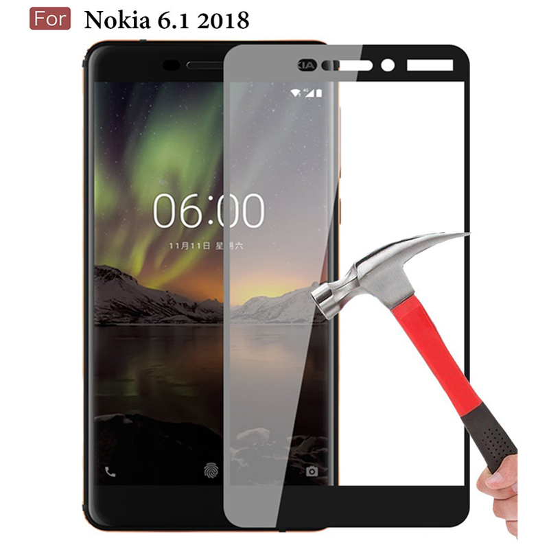Protective Glass For Nokia 6.1 2018 Screen Protector Tempered Glass For Nokia 6/6.1 2018 TA-1068 TA-1050 TA-1043 TA-1045 9H 2.5D