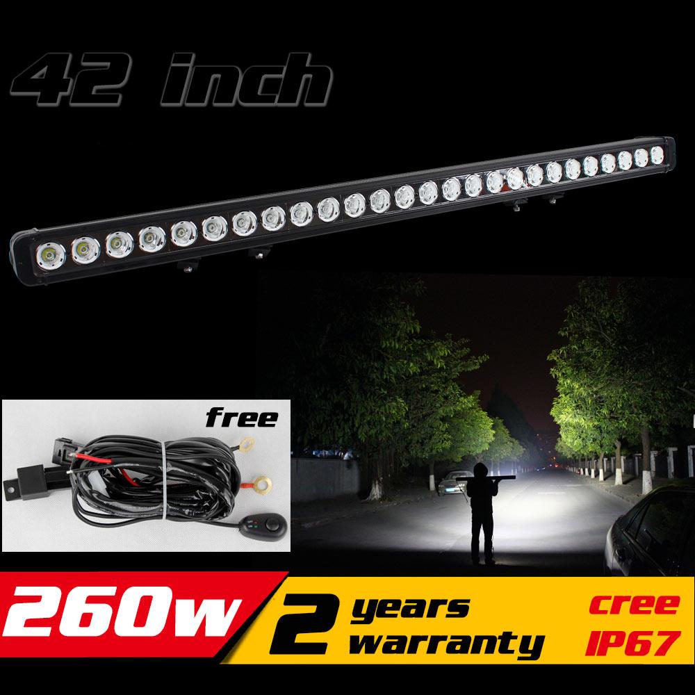42inch 260W LED Light Bar IP67 Tractor ATV LED Offroad Light Bar 4X4 LED Bar Offroad Diving Fog Light Save on 300w 288w