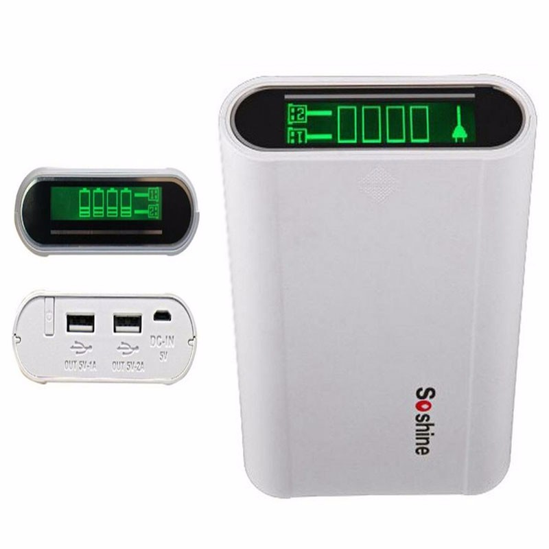 Soshine-E3-Mobile-Power-Bank-Battery-Charger-Box-with-LCD-Display121-for-1-4pcs-18650-Batteries