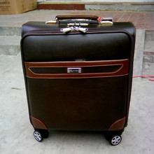 BOLO BRAVE 16 inch wheel suitcase bag,PU Commerce trolley,healthy environmentally luggage bags, men computer password box bolsos
