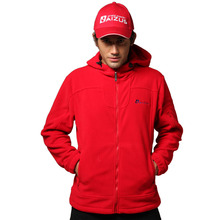 MEN'S Autumn winter outdoor windproof breathable thermal with a hood thick thermal fleece jacket B-ZMT-0054 hiking camping
