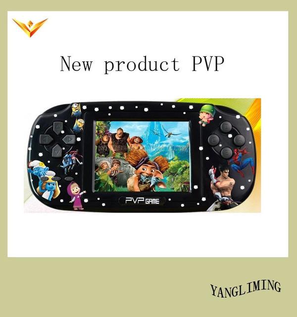 """PVP 8 Bits Consola de Juegos de Vídeo con más de 200 Juegos 3 """"TFT pantalla, salida de TV, MP3, MP4."""