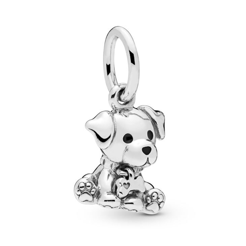 2019 NEW 100% 925 Sterling Silver Labrador Puppy Dangle Charm Pendant Fit European Lady DIY Bracelet Fashion Girl Jewelry Gift2019 NEW 100% 925 Sterling Silver Labrador Puppy Dangle Charm Pendant Fit European Lady DIY Bracelet Fashion Girl Jewelry Gift