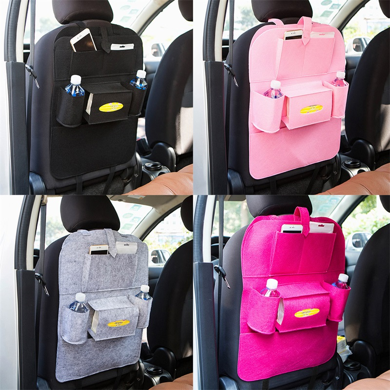 House objects Car seat back Car back seat Debris Hanging bags Chair back pocket Multifunction Storage organizer Storage Felt