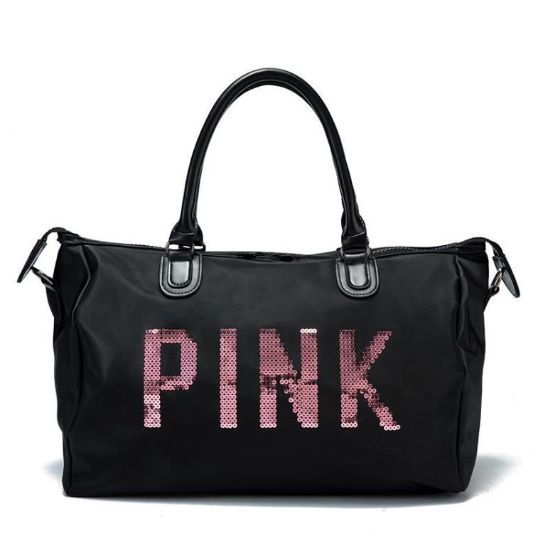 0d7ca2de3cc4 Designer Metal Sequins letters Gym bag for women large sport fitness bag  Women Tote Handbag Travel Duffle Bolsa QL-in Gym Bags from Sports    Entertainment ...