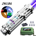 High power 2000mw Blue Laser Pointer Pen Light the smoke Plastic box set Gatling laser cannon free shipping