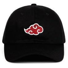 Personalidad Fashion100 % algodón Anime Naruto sombrero de papá Uchiha  familia logotipo bordado gorras de béisbol negro Snapback. 73edd1ddc21