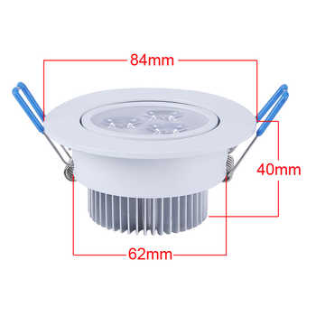 20pcs/lot 9W Dimmable Led Downlight Warm White Cool White 3X3W Ceiling Lamp Recessed LED Spotlight 110V 220V