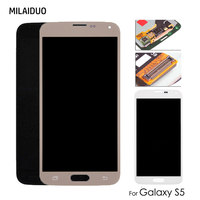 AMOLED/TFT LCD For Samsung Galaxy S5 I9600 G900 G900F LCD Display Touch Screen Digitizer Assembly Replacement Adjustable Bright