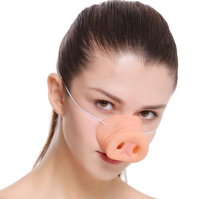Halloween Latex Pig Nose Costume Rubber Muzzle Mask