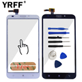A+++ Highscreen Front Glass Lens Panel Touch Screen Digitizer For Lenovo A916 Parts Capacitive Sensor + Sticker Free Shipping