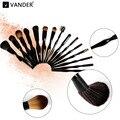 Vander 15 unids Profesional Cuerpo Curva de Contorno Fundación Blending Blush Pinceles de Maquillaje Conjunto de Alta Calidad Kits de Cosméticos En Polvo