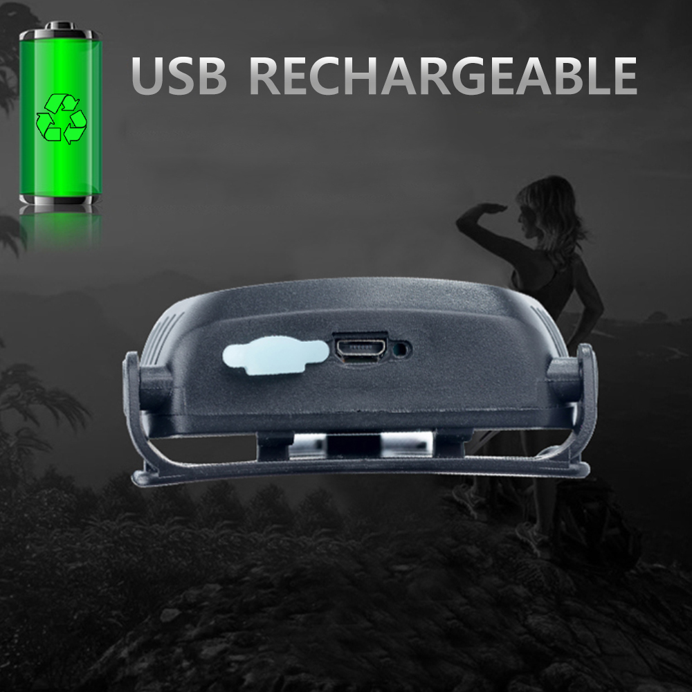 Buit in Battery IR Sensor LED Headlamp Portable Mini USB Headlight Bait Induction Body Motion Rechargeable Flashlight Waterproof in Headlamps from Lights Lighting