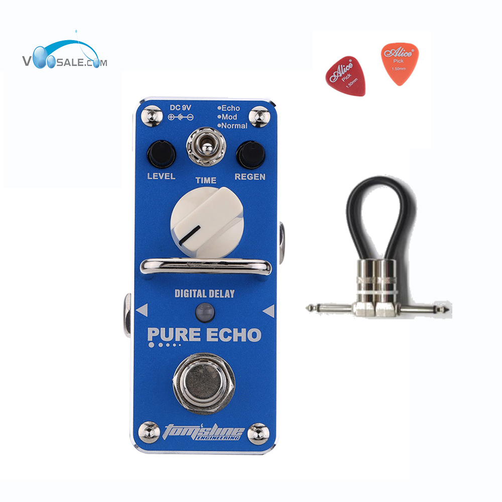 Aroma APE-3 Pure For Echo Digital Delay Electric Mini Digital Guitar Effect Pedal With True Bypass Aluminium Alloy + Free Cable amo 3 mario bit crusher electric guitar effect pedal aroma mini digital pedals full metal shell with true bypass