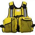 Hombres libres del Envío Traje de Supervivencia Muti-bolsillo de Deportes Acuáticos Chalecos Verano traje de Baño Chaleco Salvavidas