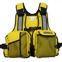 Men's Watersport Survival Suit Muti pocket Vests Summer Swimwear Life Jacket Vest