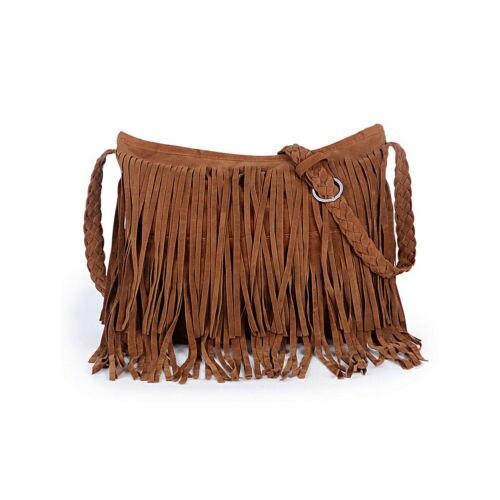 2018 New Solid bohemian Women bag Tassel Shoulder Messenger Suede Handbag Cross Body Bag Purse Womens bag