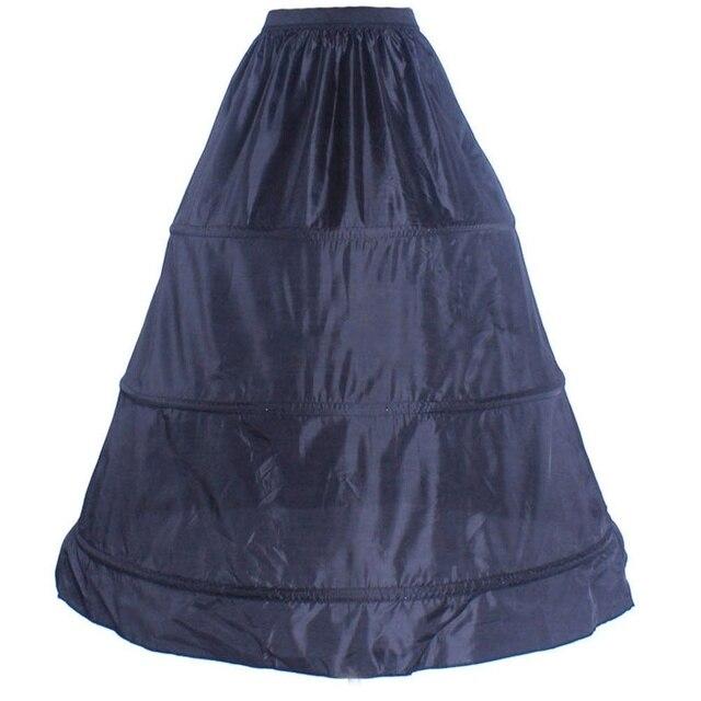 3-חישוק שחור לבן אביזרי חתונה קרינולינה חצאית התחתונית