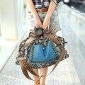 2015 Retro mulheres impressão hobos bolsas rebite sacos de ombro bolsas de embreagem bolsa sacos de grande bolsa