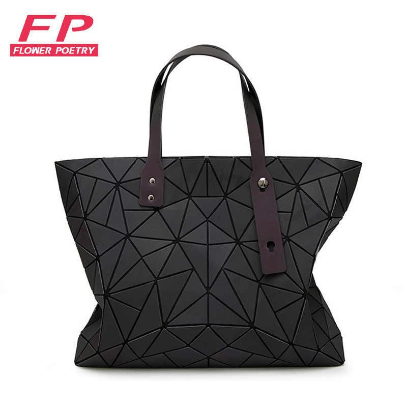 48df5d92eb7 New Chain Geometry Bags Women Folding Messenger Bag Luminous Handbags Tote  Bao Bag Women Shoulder Bags