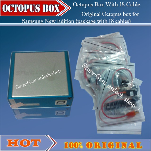 The Newest version 100% Original Octopus box for Samsung New Edition  (package with 18 cables)ForS5& N900T&N900A&N9005-in Telecom Parts from  Phones &