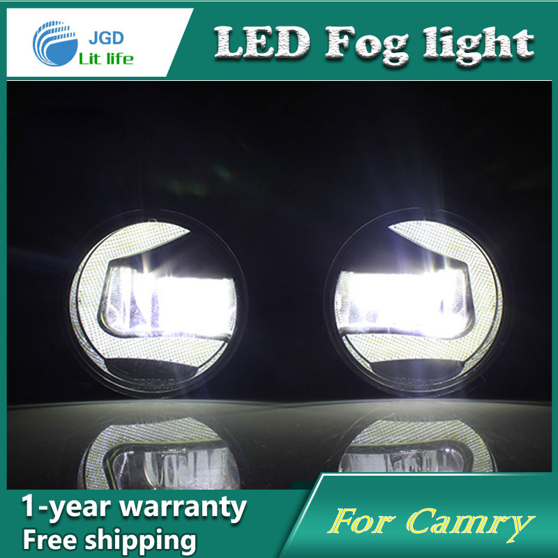 Super White LED Daytime Running Lights For Toyota Camry 2006-2012 Drl Light Bar Parking Car Fog Lights 12V DC Head Lamp car styling fog lights for toyota camry 2012 2014 pair of 12v 55w front fog lights bumper lamps daytime running lights