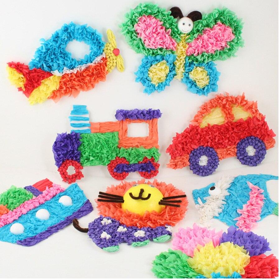 Children Diy Color Paper Sticker Toys Kids Child Cartoon Animal