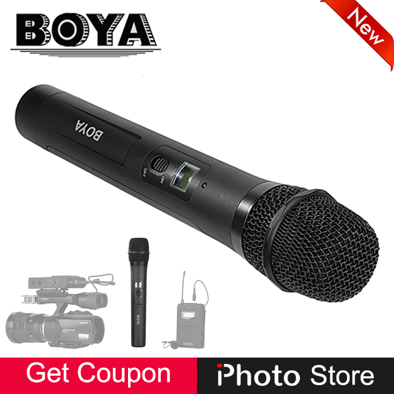 BOYA BY-WHM8 Omindirectional Condenser Handheld Microphone UHF Wireless Transmitter for BY-WM6R BY-WM8R DSLR Camera DV Camcorder free shipping 1038 professional portable wireless microphone system with bodypack transmitter for dv dslr camera camcorder