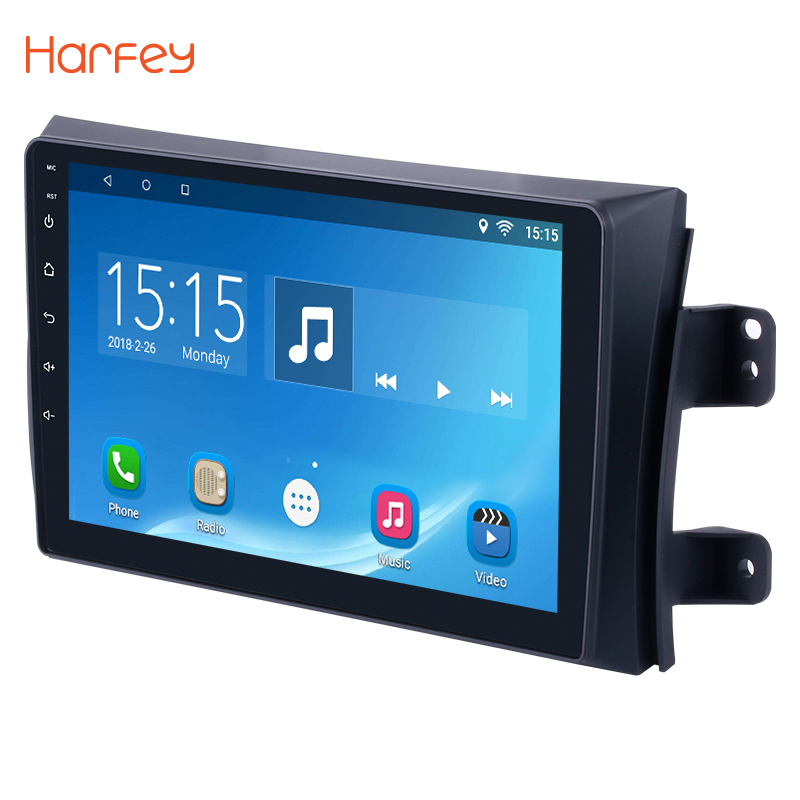 Harfey 9 inch Android 6.0 Car GPS Navigation Radio Multimedia Player for 2006-2012 Suzuki SX4 with Quad Core RAM 1GB ROM 16GB funrover 9 hd quad core ram 2g android 8 0 car navigation gps player for suzuki sx4 2006 2013 wifi rds radio bt fm usb no dvd