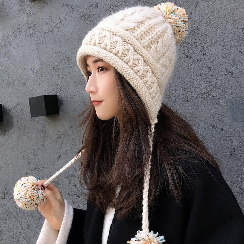 Invierno nueva llegada sombrero de lana de Corea del Sur de protectores auditivos de chica dulce sombrero Casual