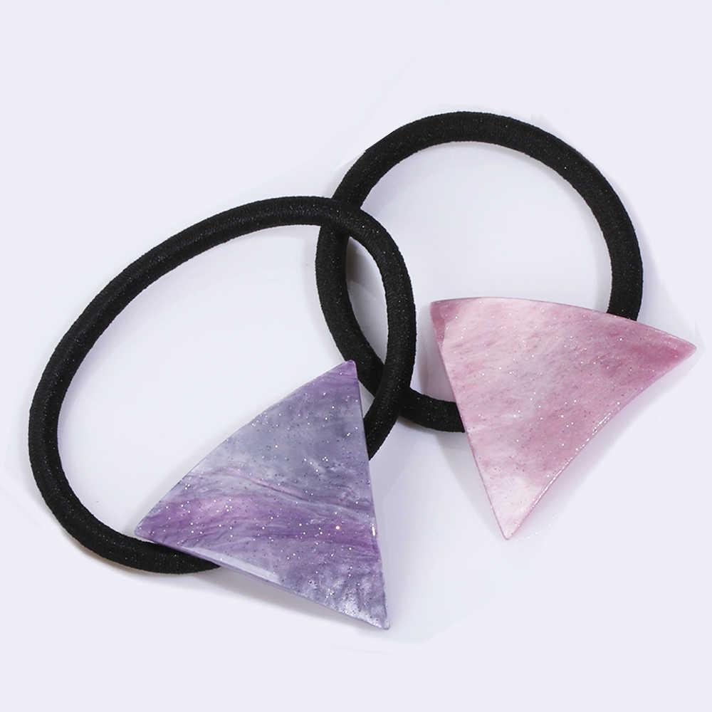 Mädchen Einfache Stern Dreieck haar seil Acryl Geometrische Dreieck Kopf Bands Haar Ring Elastische Kopf Seil Für Frauen haar Zubehör