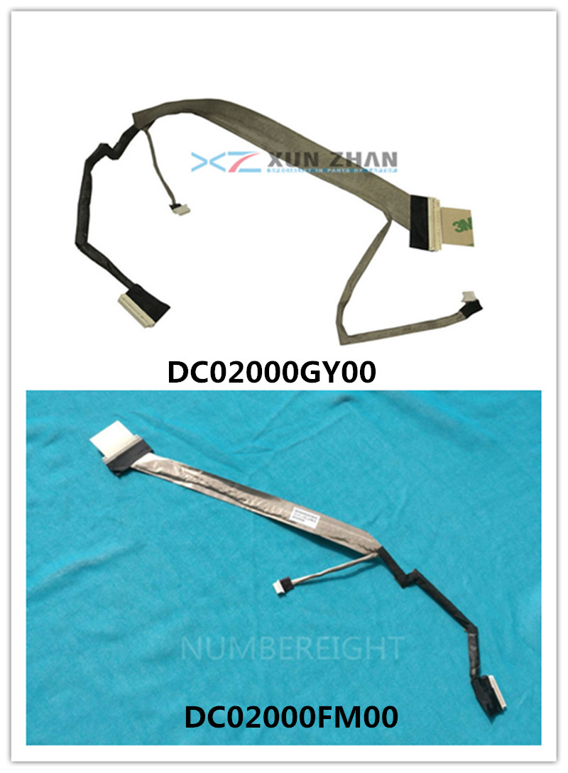 New LED LCD Cable For HP Compaq Presario C700 G7000 G7010 DC02000FM00 454919-001 / DC02000GY00 462447-001 Screen Display Flex