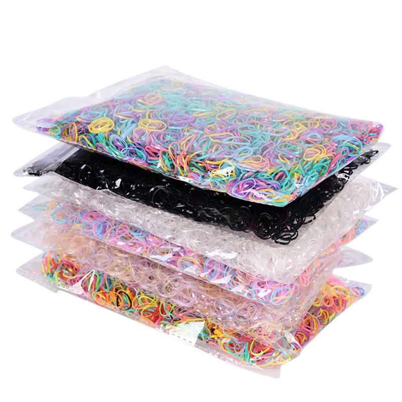 500pcs/set Ties Braids Plaits Rubber Ponytail Holder Elastic Hair Sale Hairband Rope