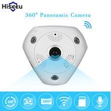 Hiseeu HD 3.0MP WiFi Panoramic Camera 360 Degree e-PTZ Fisheye IP CCTV Camera Video Storage Remote IR-CUT Onvif Audio 39