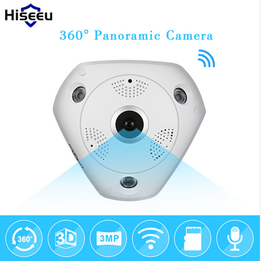 Hiseeu HD 3.0MP WiFi Panoramic Camera 360 Degree e PTZ Fisheye IP CCTV Camera Video Storage Remote IR CUT Onvif Audio 39